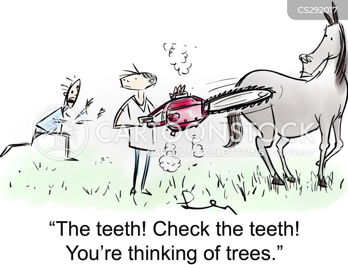 tree surgeons cartoon