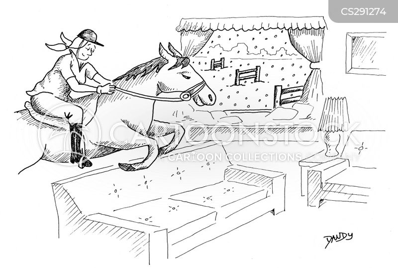 horse farm cartoon