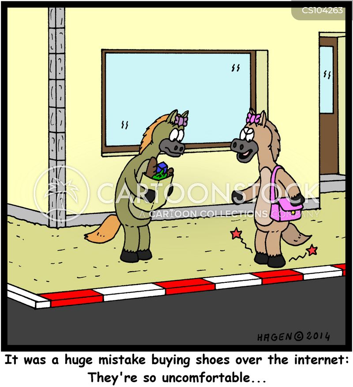 horse-shoes cartoon