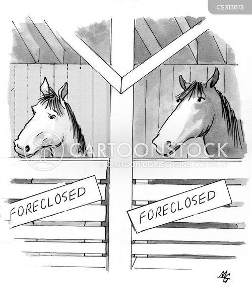 foreclosing cartoon