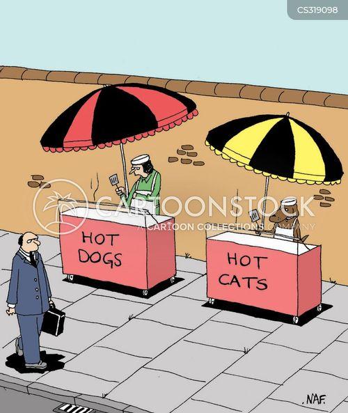 food stalls cartoon