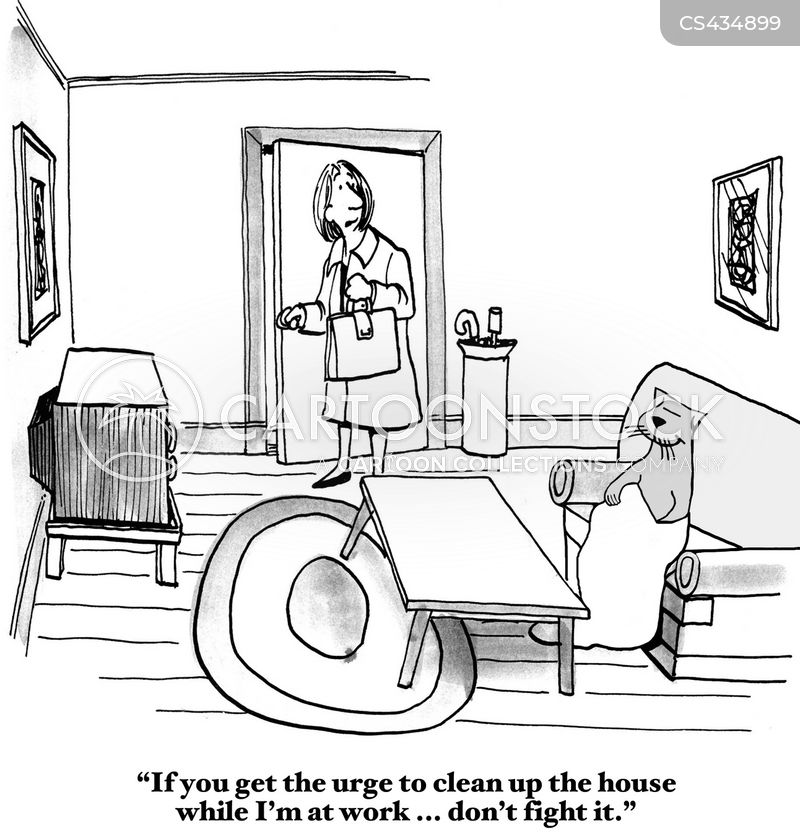 cleaning chores cartoon