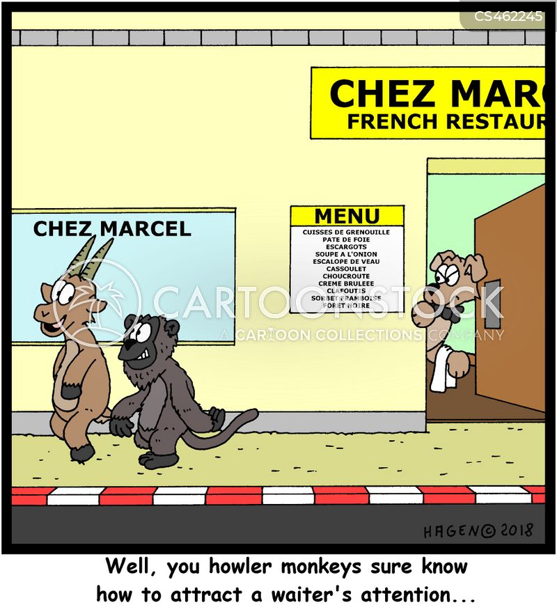 french waiters cartoon