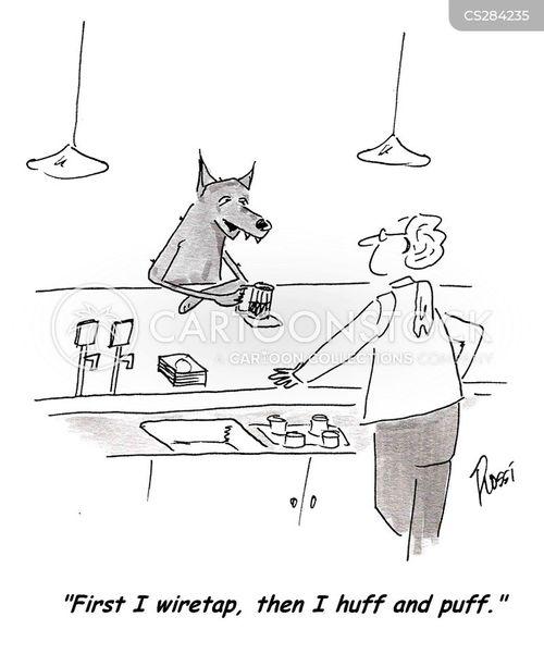 wiretap cartoon