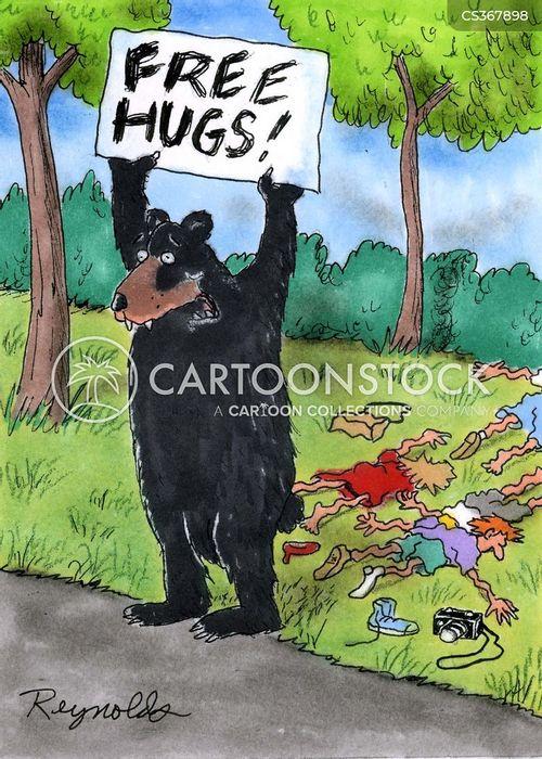 hugged cartoon
