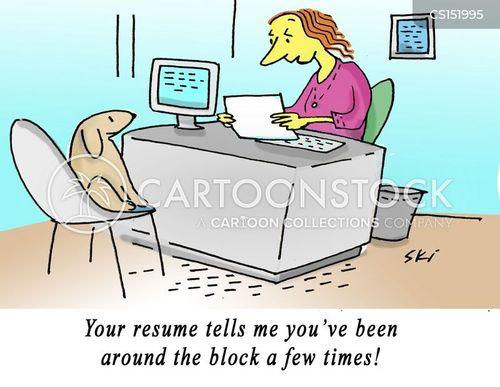 previous jobs cartoon