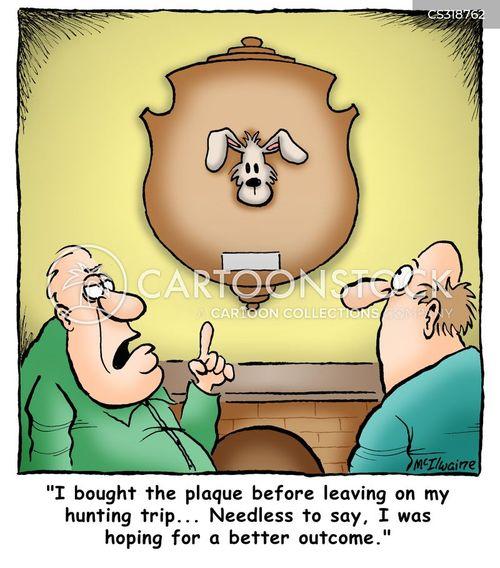 moose hunting cartoon