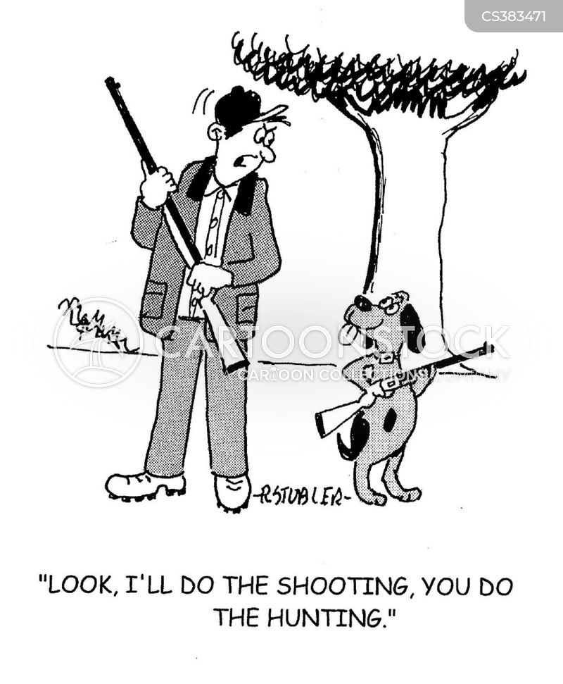 hunting dogs cartoon