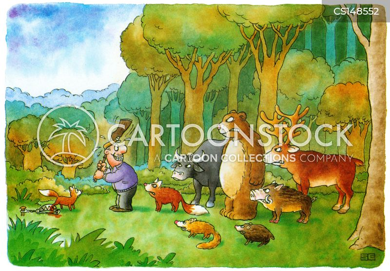 woodland animal cartoon