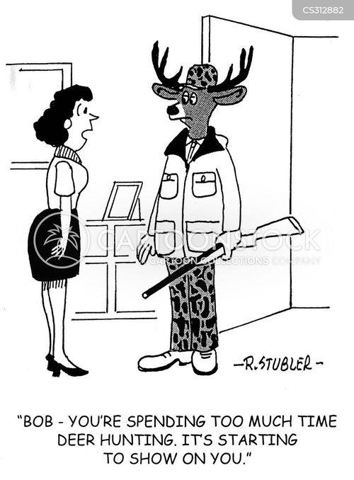 deer hunts cartoon