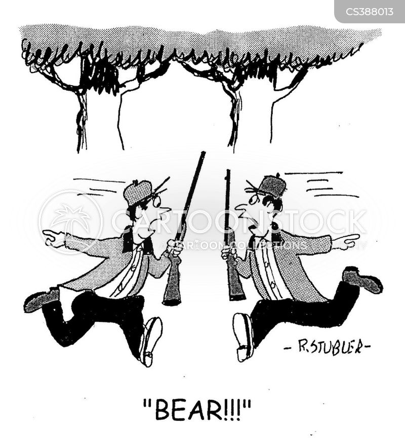 grizzly attacks cartoon