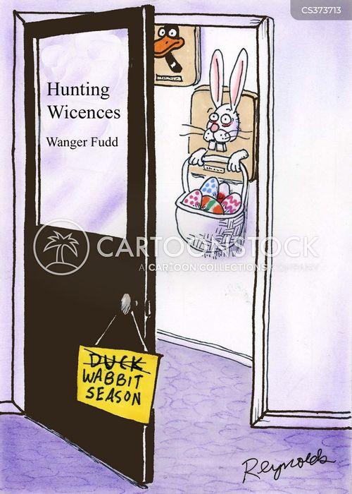 hunting license cartoon
