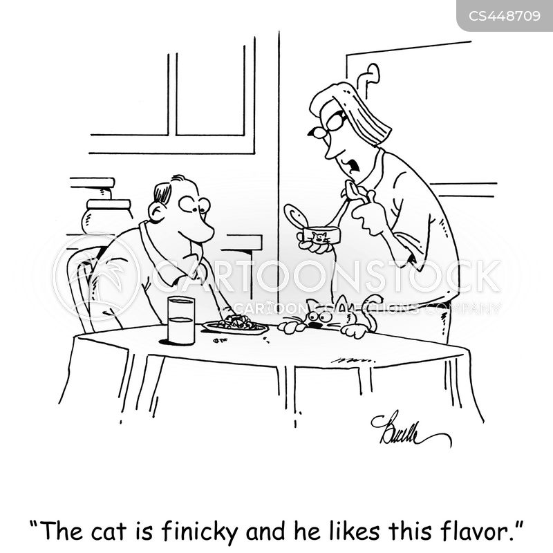 cat foods cartoon