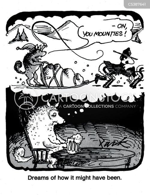 mounties cartoon