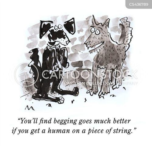living rough cartoon