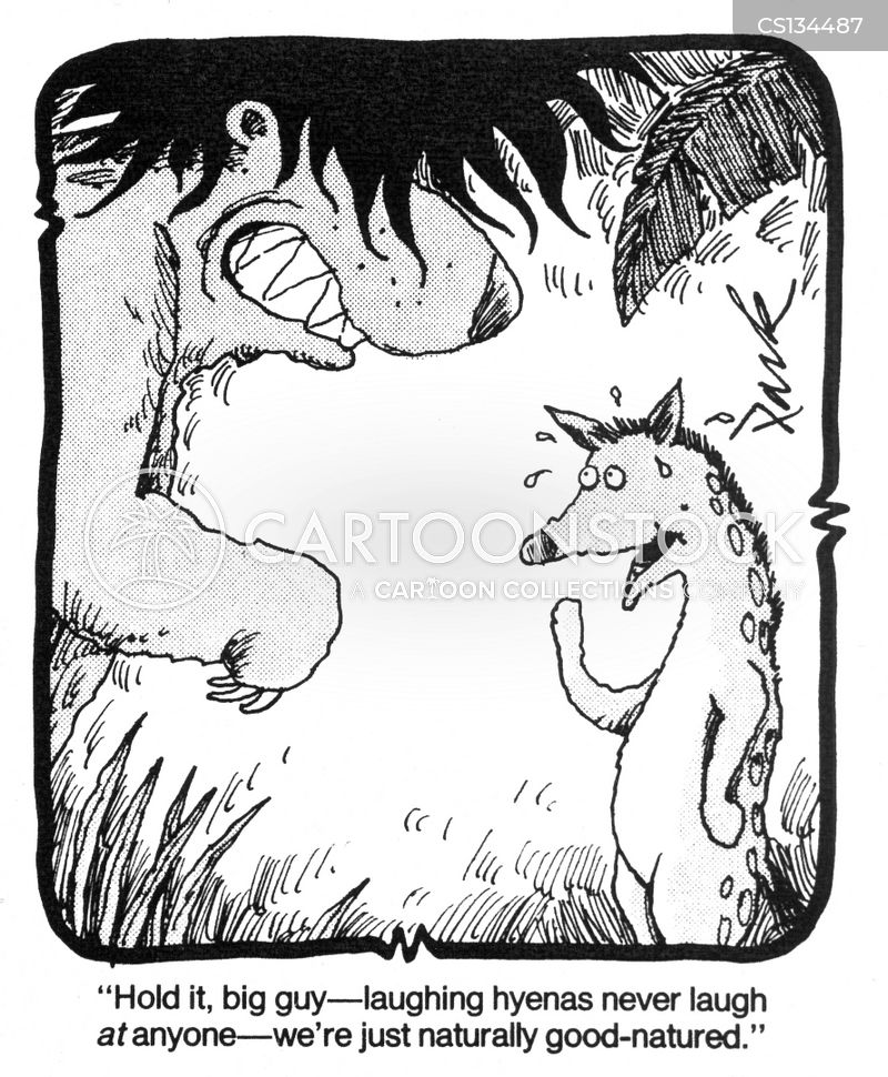laughing hyenas cartoon