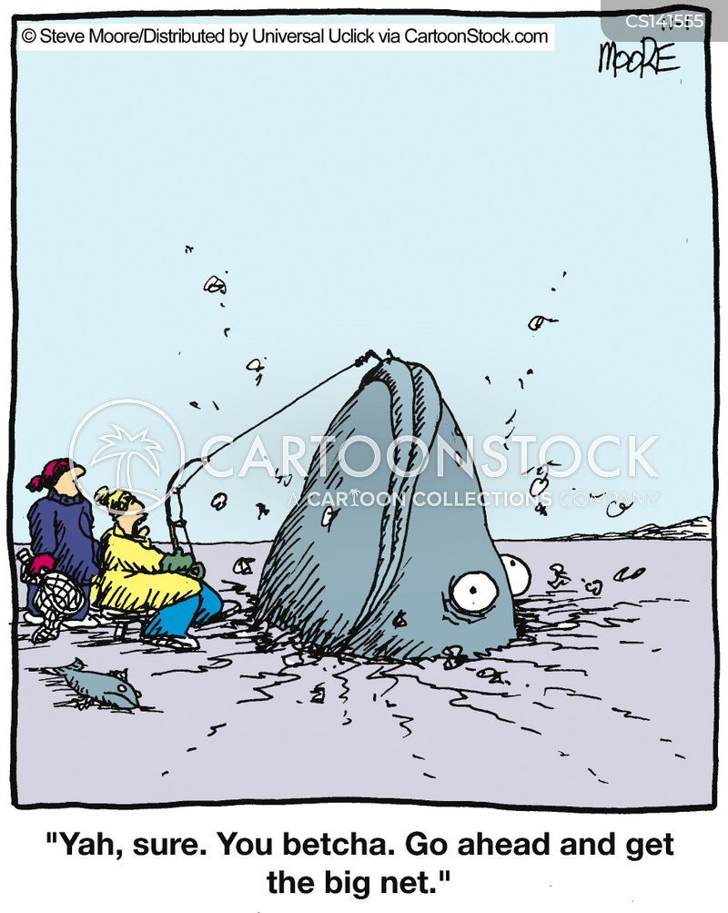 ice fishermen cartoon