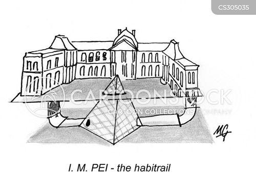 louvre museum cartoon