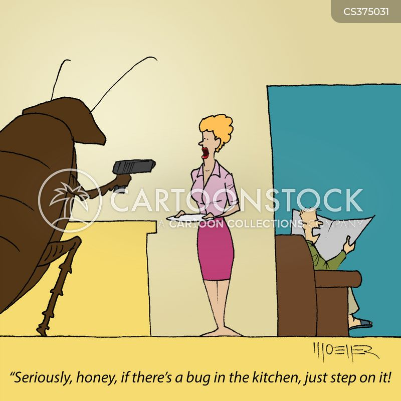 insect phobia cartoon
