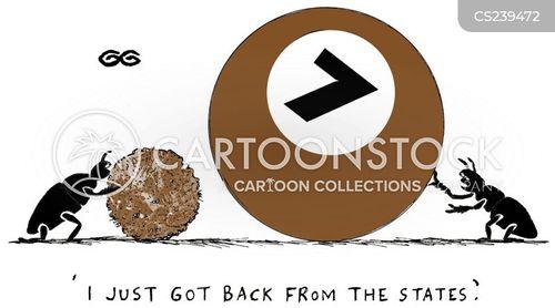 been away cartoon
