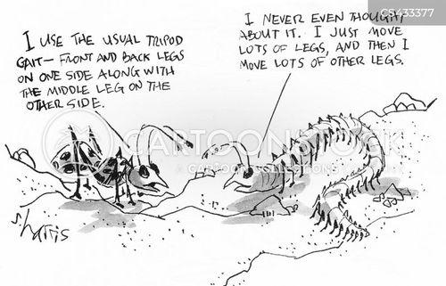 millipedes cartoon