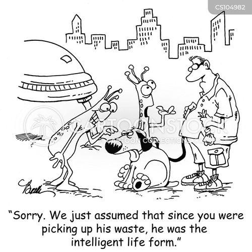 intelligent life cartoon