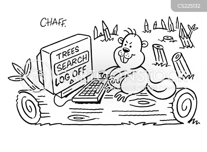deforestations cartoon