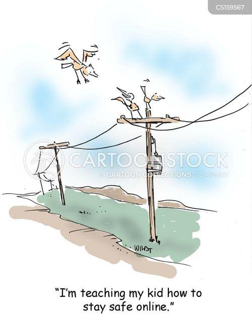 online safety cartoon