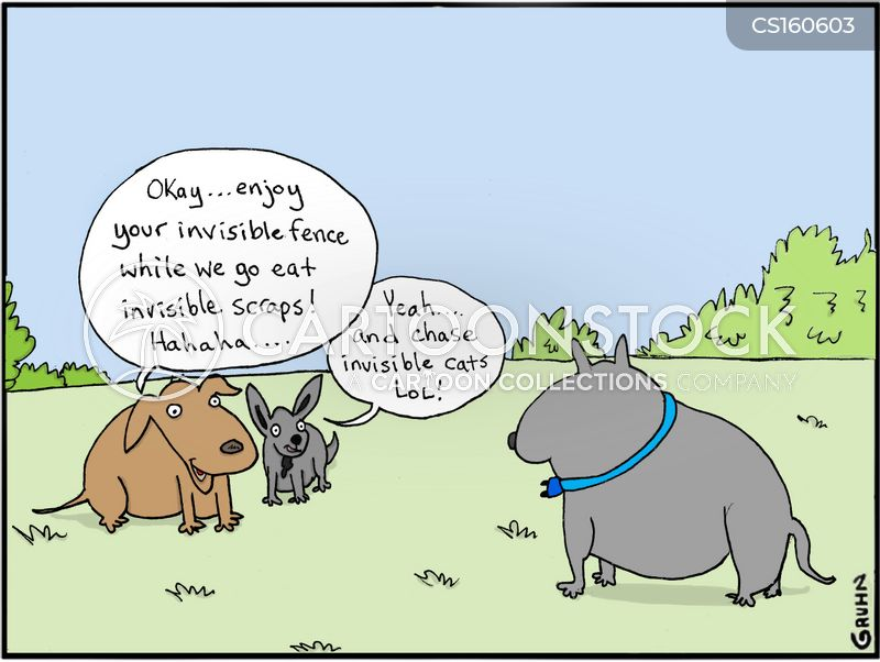 invisible fence cartoon
