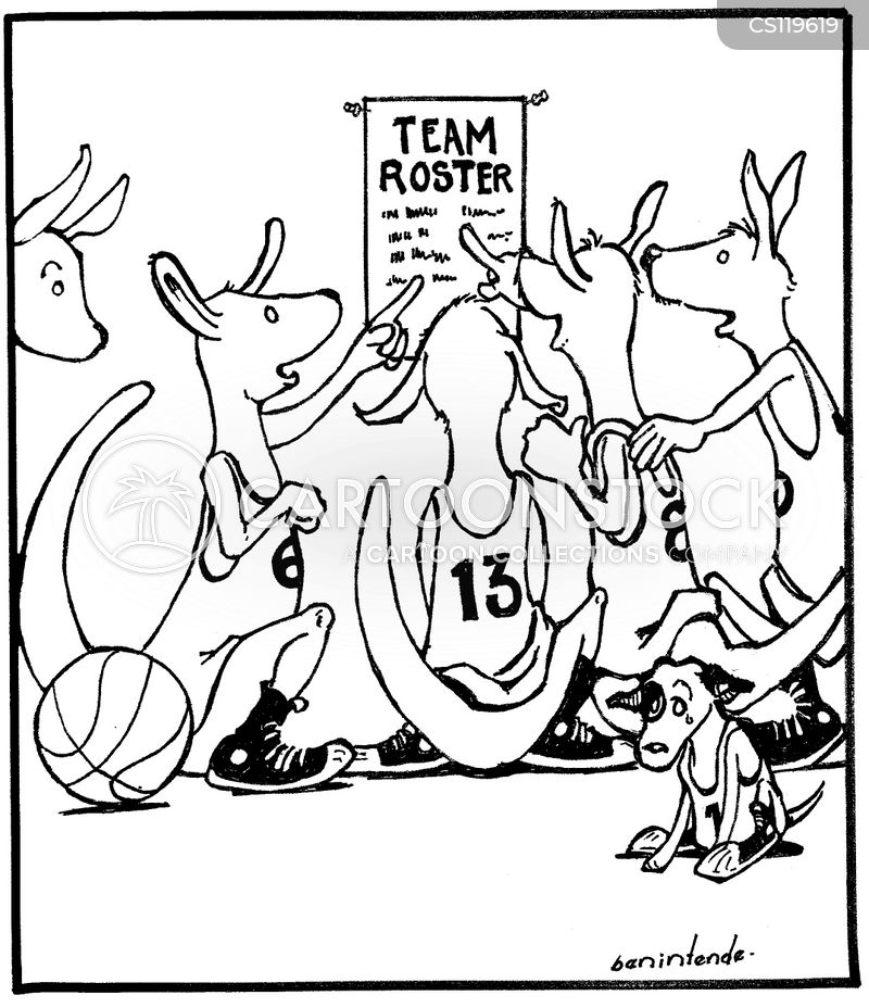 basketball teams cartoon