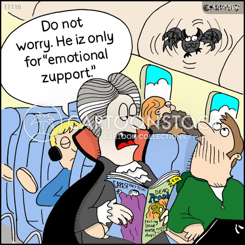 flight anxiety cartoon