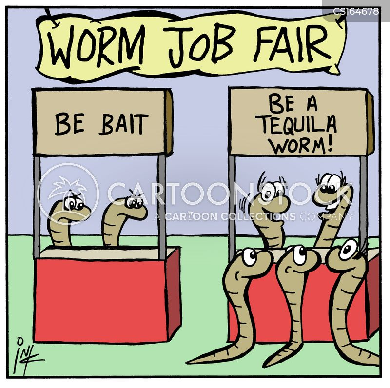 bait worm cartoon