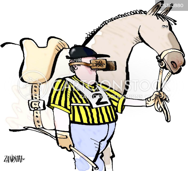 equestrian sports cartoon