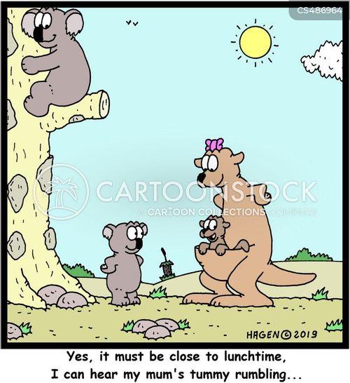 rumbling cartoon