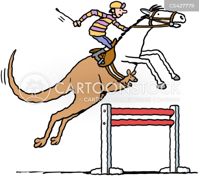 horse jump cartoon