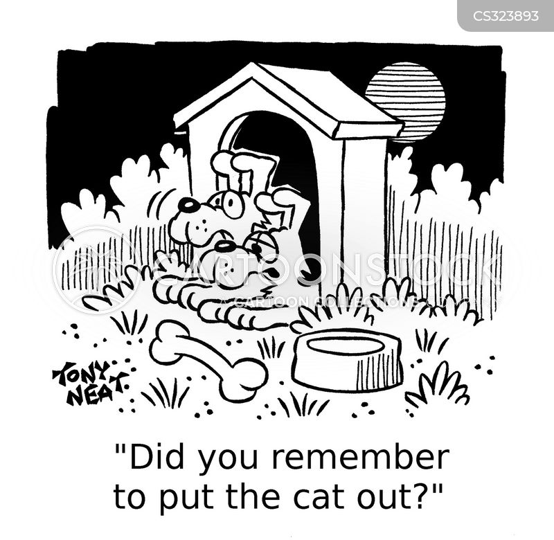 putting the cat out cartoon
