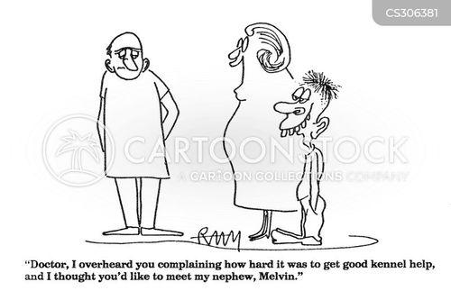 kennels help cartoon