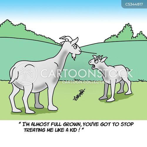 baby goats cartoon