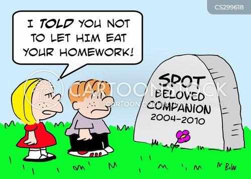 dead pet cartoon