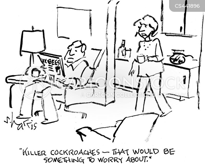 bug phobias cartoon