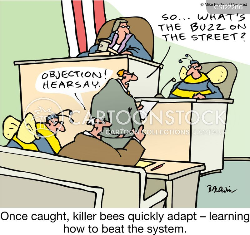 killer bees cartoon