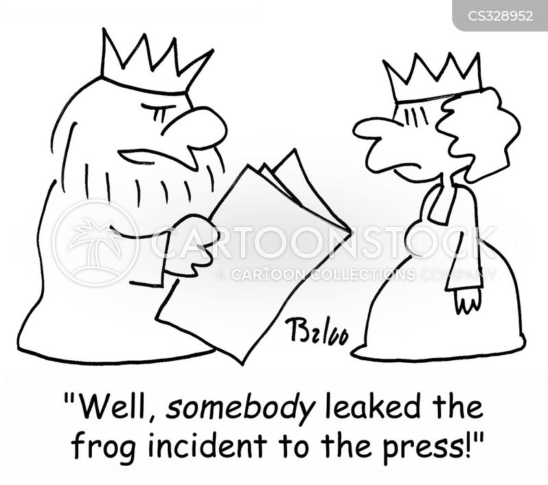 press leak cartoon