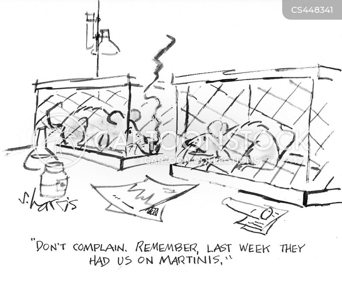 lab animals cartoon