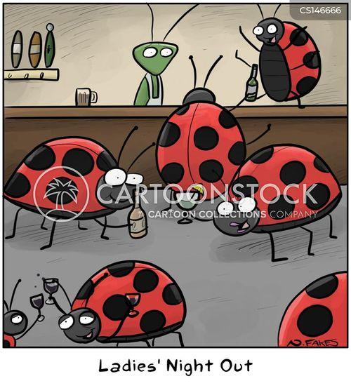 girls night out cartoon