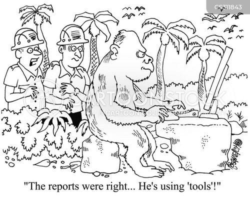 using tools cartoon