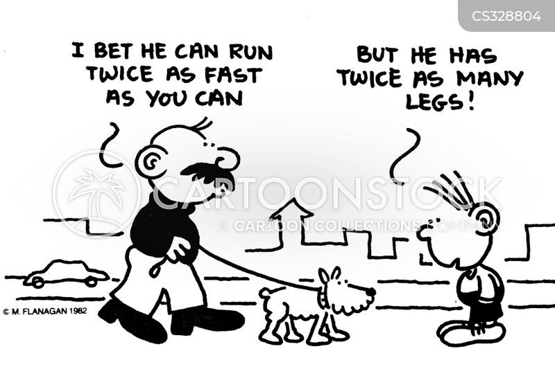 fast runners cartoon