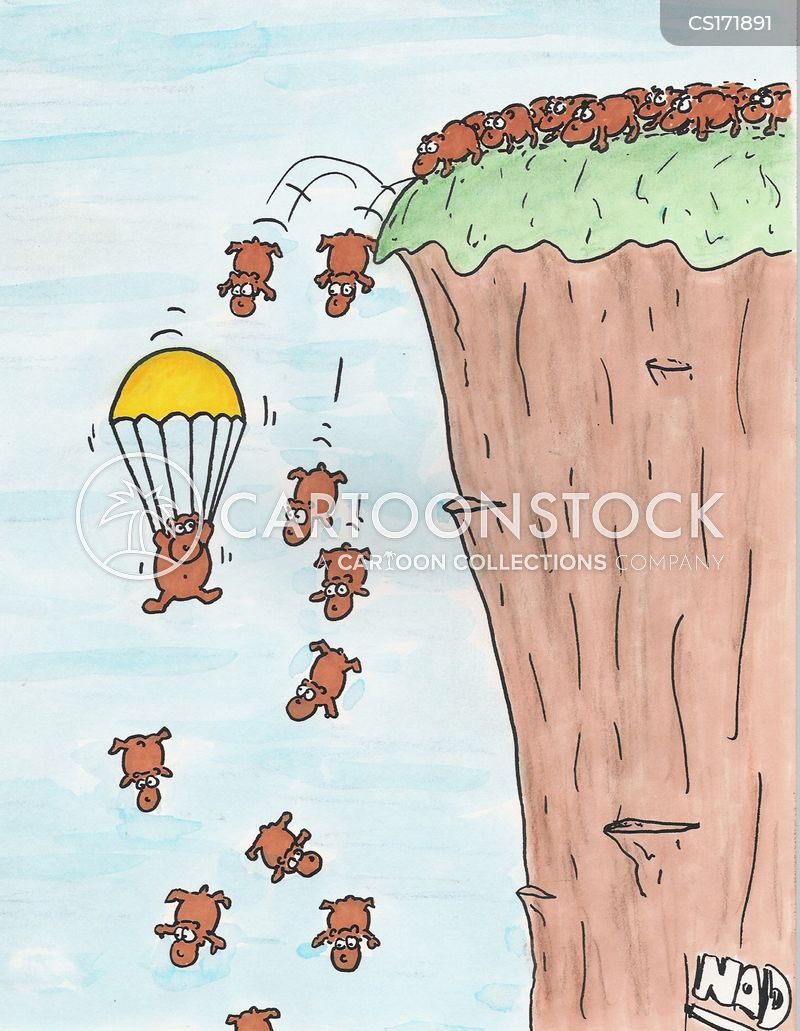 cliffs cartoon