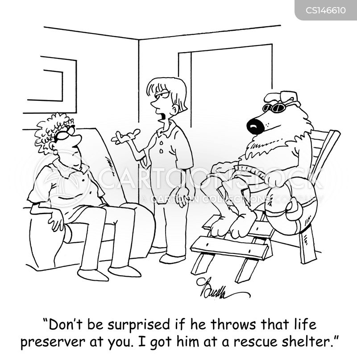 rescue animal cartoon