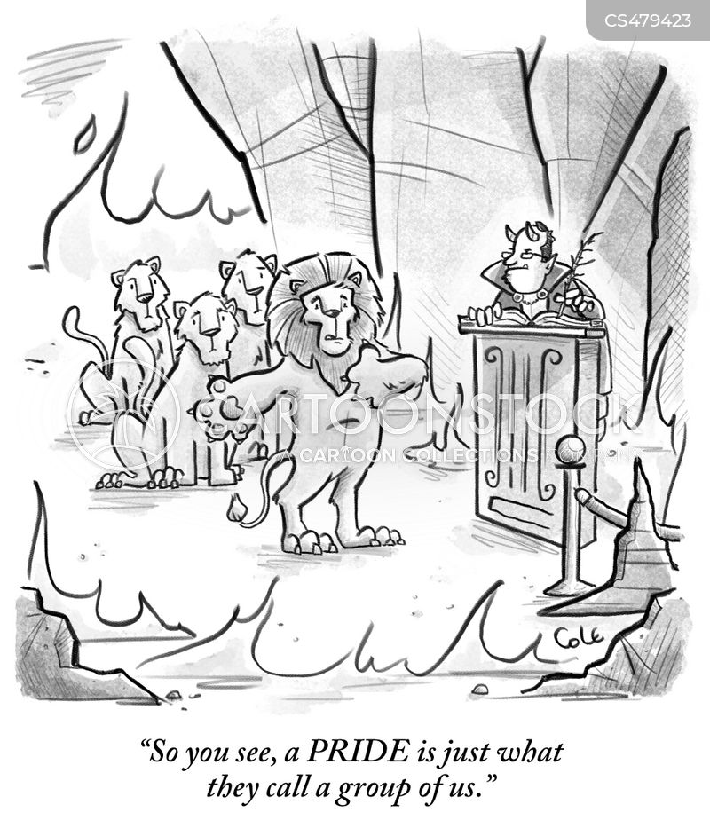 lion prides cartoon