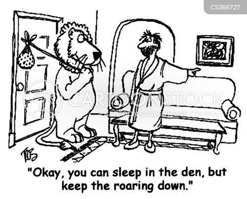 roaring cartoon